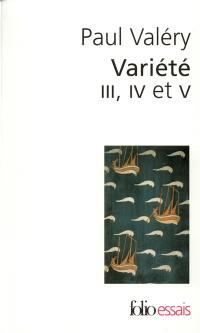 Variété III, IV et V