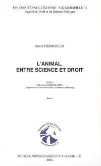 L'animal, entre science et droit