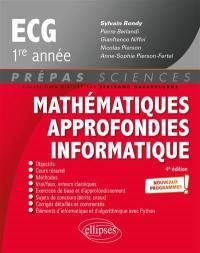 Mathématiques approfondies informatique, ECG 1re année