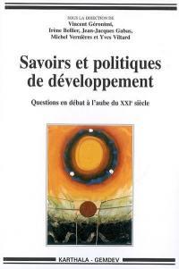 Savoirs et politiques de développement