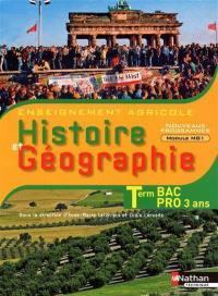 Histoire et géographie, terminale bac pro 3 ans : enseignement agricole : nouveaux programmes module MG1, objectif 3