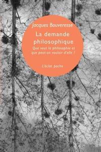 La demande philosophique
