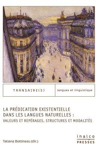 La prédication existentielle dans les langues naturelles