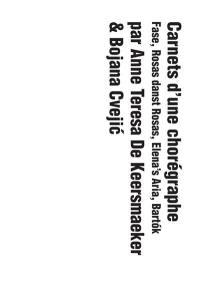 Carnets d'une chorégraphe