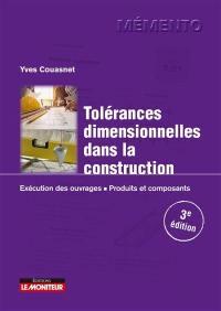 Tolérances dimensionnelles dans la construction