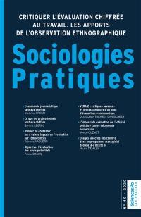 Sociologies pratiques. n° 40, Critiquer l'évaluation chiffrée au travail
