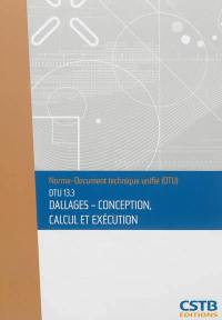 Dallages-conception, calcul et exécution