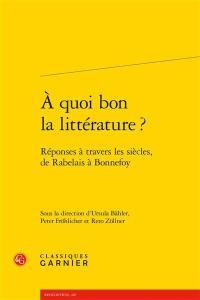 A quoi bon la littérature ?