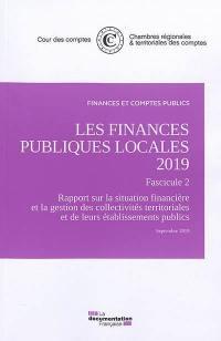 Les finances publiques locales 2019, Fascicule 2
