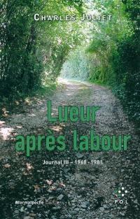 Journal. Volume 3, Lueur après labour