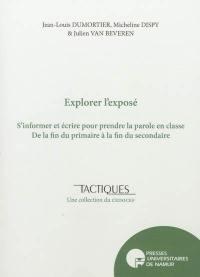 Explorer l'exposé