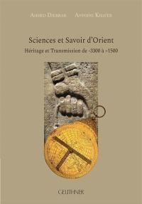 Sciences et savoir d'Orient