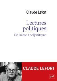 Lectures politiques : de Dante à Soljenitsyne