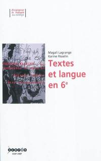 Textes et langue en 6e