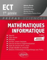 Mathématiques informatique ECT 1re année