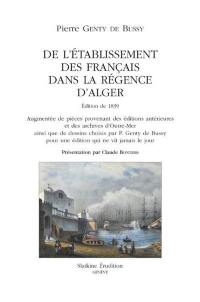 De l'établisement des Français dans la régence d'Alger