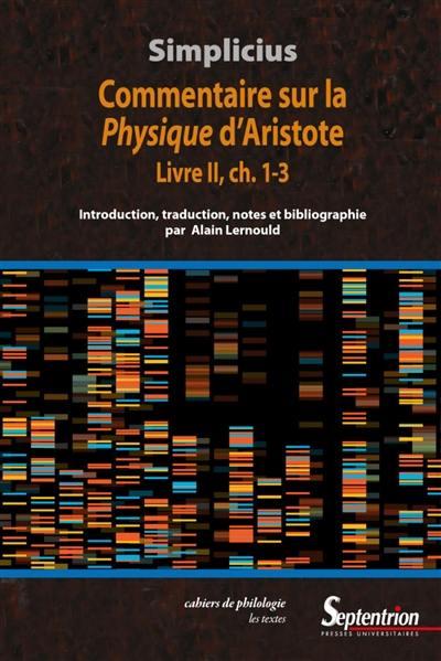 Commentaire sur la Physique d'Aristote