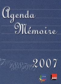 Agenda mémoire 2007