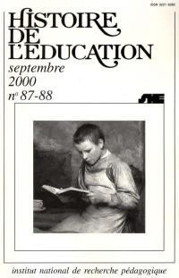 Histoire de l'éducation. n° 87-88, Bibliographie d'histoire de l'éducation française