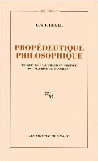 Propédeutique philosophique