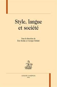 Style, langue et société