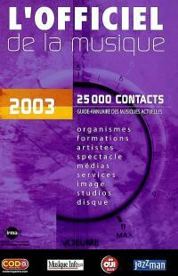 L'officiel de la musique, 2003