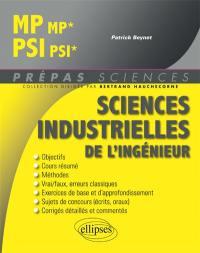 Sciences industrielles de l'ingénieur MP-MP*, PSI-PSI*