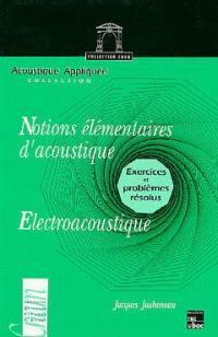 Notions élémentaires d'acoustique, électroacoustique