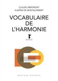 Vocabulaire de l'harmonie