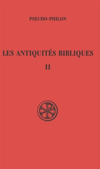 Les Antiquités bibliques. Volume 2,