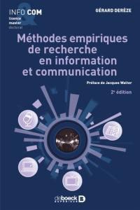 Méthodes empiriques de recherche en information et communication