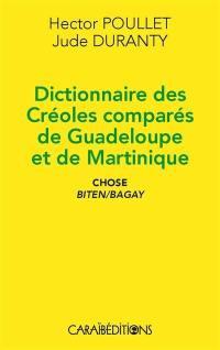 Dictionnaire des créoles comparés de Guadeloupe et de Martinique