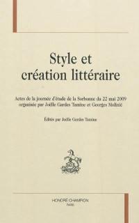 Style et création littéraire