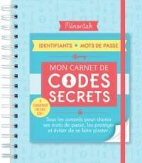Mon carnet de codes secrets
