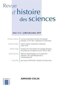 Revue d'histoire des sciences. n° 72-2,