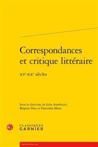 Correspondances et critique littéraire