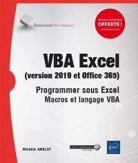 VBA Excel (versions 2019 et Office 365)
