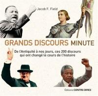 Grands discours minute