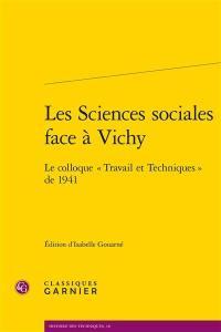 Les sciences sociales face à Vichy