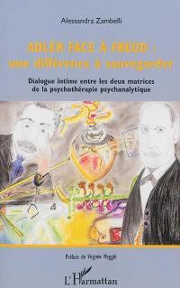 Adler face à Freud, une différence à sauvegarder