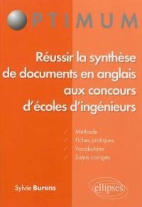Réussir la synthèse de documents en anglais aux concours d'écoles d'ingénieurs