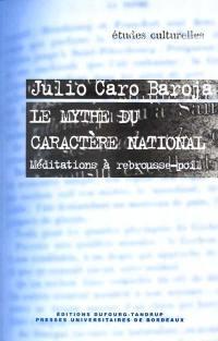Le mythe du caractère national