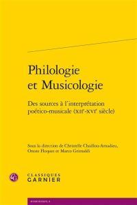 Philologie et musicologie