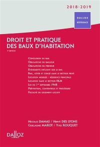 Droit et pratique des baux d'habitation 2018-2019