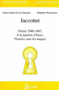 Jaccottet, Poésie 1946-1967, A la lumière d'hiver, Pensées sous les nuages