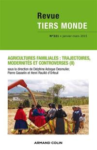 Tiers monde. n° 221, Agricultures familiales