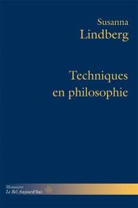 Techniques en philosophie