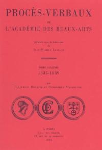 Procès-verbaux de l'Académie des beaux-arts. Volume 6, 1835-1839