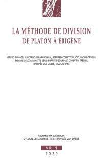 La méthode de division de Platon à Erigène