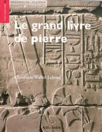Le grand livre de pierre